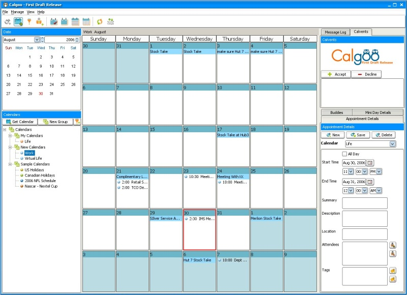 Calendar App For Pc : Calgoo brings the google calendar to your desktop i m
