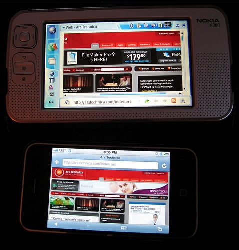 nokia n800 iphone touch
