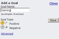 Add Gaming as Negative Goal ?
