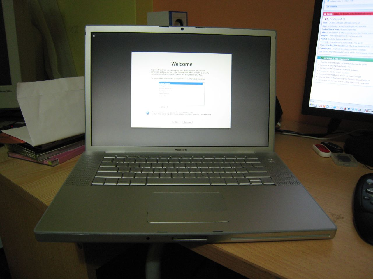 macbook pro kick start
