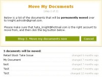 Moving From Old Account - select document