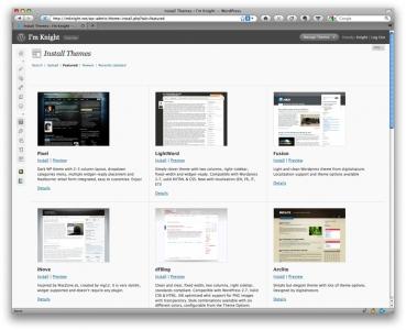 wordpress-2-8-install-new-theme