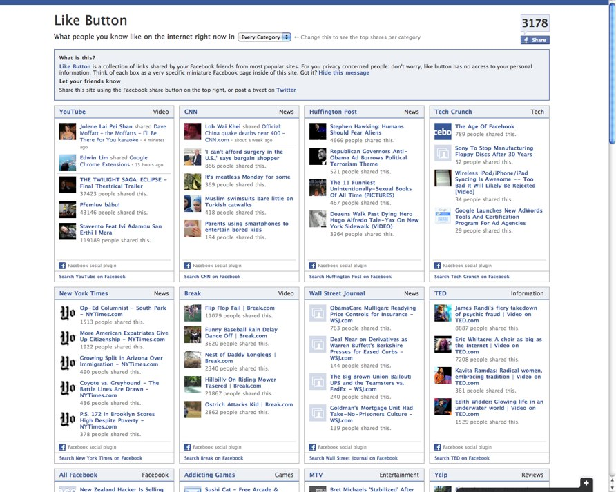 LikeButton Homepage