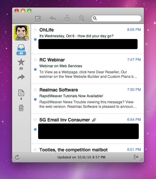 Sparrow - The New Mail For Mac