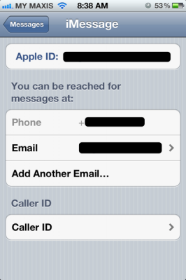 apple id for imessage 266x400 Using multiple apple id on iOS 5