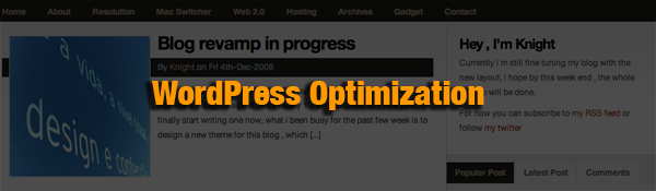 Blog revamp masthead - WordPress Optimization